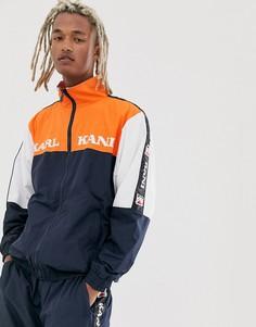 Сине-оранжевая спортивная куртка в стиле ретро Karl Kani-Оранжевый