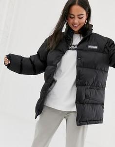 Черная дутая куртка Napapijri - Ari-Черный