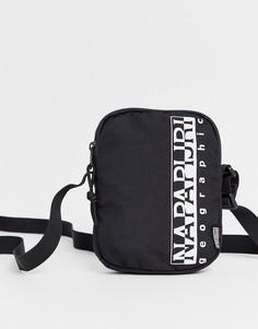 Черная сумка через плечо Napapijri Happy-Черный