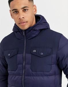 Темно-синяя куртка Calvin Klein Golf - starboard-Темно-синий