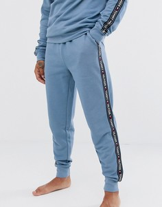 Синие джоггеры для дома с контрастной лентой Tommy Hilfiger-Синий