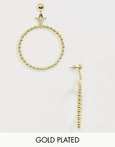 Позолоченные серьги-кольца Wanderlust & Co - Bee-Золотой