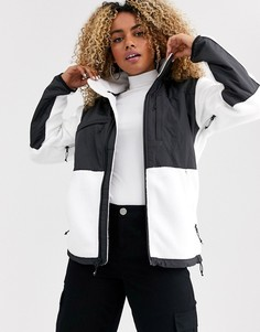 Черно-белая флисовая куртка The North Face Denali-Белый