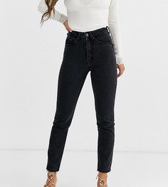 Укороченные джинсы в винтажном стиле с завышенной талией Vero Moda Petite-Черный