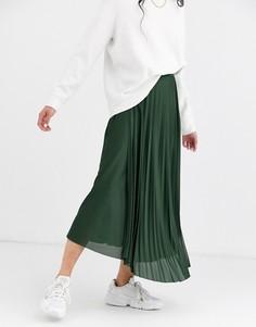 Плиссированная юбка макси с запахом ASOS DESIGN-Мульти