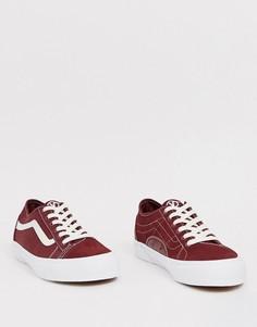 Бордовые кроссовки Vans-Красный