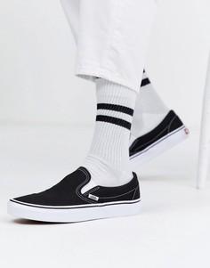 Черно-белые кеды-слипоны Vans Classic-Черный