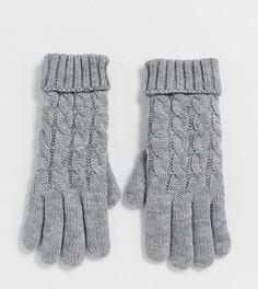 Серые вязаные перчатки эксклюзивно от Stitch & Pieces-Серый