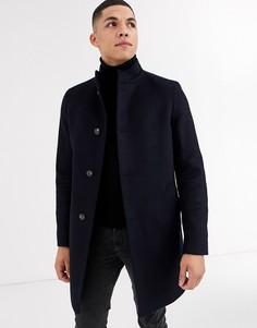 Пальто с воротником-стойкой и добавлением шерсти Tommy Hilfiger-Черный
