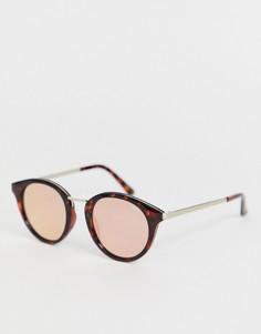 Круглые солнцезащитные очки в черепаховой оправе Quay Australia gotta run-Коричневый