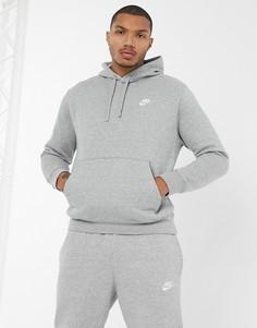 Худи серого цвета Nike - Club-Серый