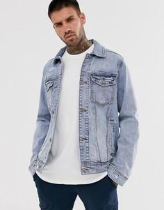 Светлая джинсовая куртка Hollister-Синий