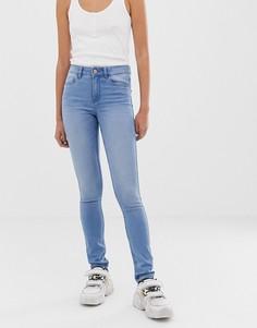 Мягкие зауженные джинсы с классической талией Noisy May - Lucy-Синий