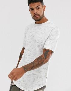 Белая удлиненная футболка Only & Sons-Белый