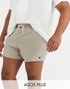 Серые короткие шорты для плавания ASOS DESIGN Plus-Серый
