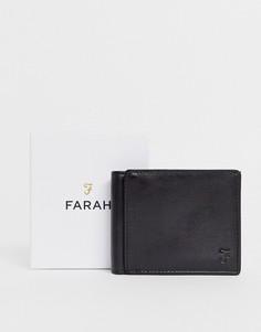 Черный складной бумажник с тиснением Farah cody roma