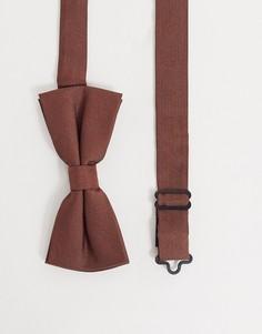 Коричневый галстук-бабочка Twisted Tailor