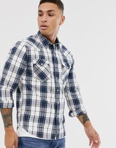 Клетчатая рубашка в стиле вестерн с двумя карманами Levis Barstow-Синий