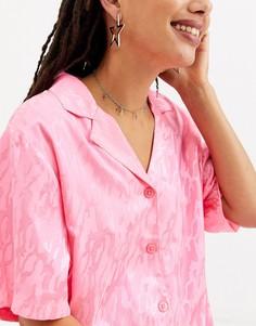 Серебристое ожерелье-чокер с подвесками в форме крестов ASOS DESIGN-Серебряный