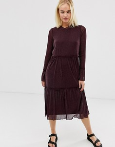 Прозрачное платье миди Moves by Minimum-Коричневый