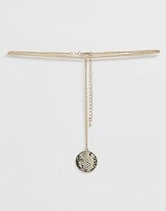 Ожерелье-цепочка с подвеской Miss Selfridge-Золотой
