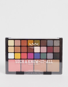 Палитра для макияжа (тени для век, румяна и контурная пудра) NYX Professional Makeup Such A Know-It-All-Красный
