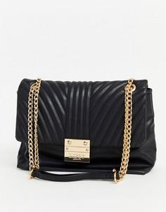 Стеганая сумка через плечо с ремешком-цепочкой Lipsy-Черный