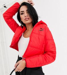 Красная укороченная дутая куртка Puma-Красный
