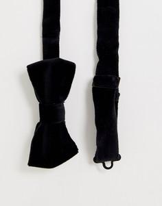 Черный бархатный галстук-бабочка Devils Advocate