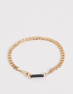 Золотистый браслет-цепочка с крупными звеньями и застежкой-карабином Icon Brand-Золотой