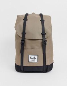 Рюкзак песочного цвета вместимостью 19,5 л и контрастным основанием Herschel Supply Co Retreat-Светло-коричневый