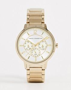 Золотистые наручные часы French Connection-Золотой
