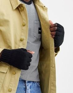Черные перчатки Weekday Wood-Черный