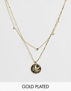 Позолоченное ожерелье Wanderlust & Co - April Birthstone-Золотой