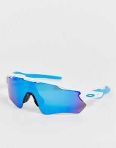 Белые солнцезащитные очки со стеклами сапфирового цвета Oakley Radar EV Path-Белый