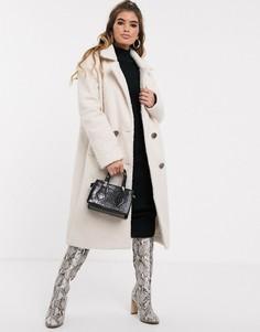 Двубортное легкое пальто белого цвета Missguided-Белый