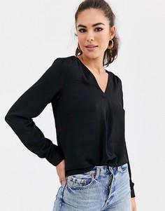 Черная блузка с запахом Vila-Черный