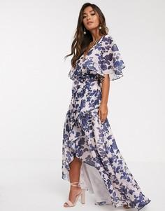 Платье с цветочным принтом Keepsake halo-Мульти