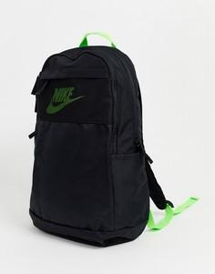 Черный рюкзак с неоновым логотипом-галочкой Nike - Elemental