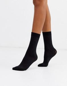 Черные носки с леопардовым принтом Monki-Черный