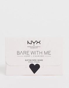 Матирующие салфетки с экстрактом конопли NYX Professional Makeup Bare With Me-Бесцветный