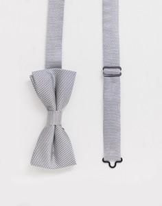 Серебристый галстук-бабочка Twisted Tailor-Серебряный