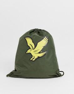 Спортивная сумка на шнурке Lyle & Scott-Зеленый