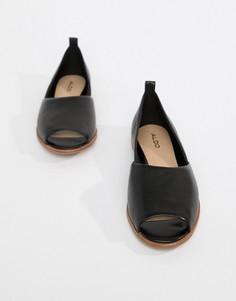 Кожаные летние туфли Aldo-Черный