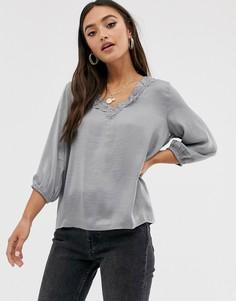Блузка с рукавами длиной 3/4 JDY-Серый