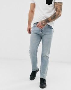 Светлые джинсы прямого кроя с классической талией Levis 501 93-Синий
