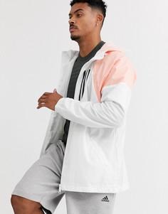 Белая куртка adidas Running-Белый