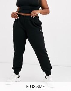Черные спортивные штаны Puma Plus - Essentials-Черный
