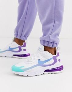 Кроссовки с синей и фиолетовой отделкой Nike Air Max 270 React-Розовый