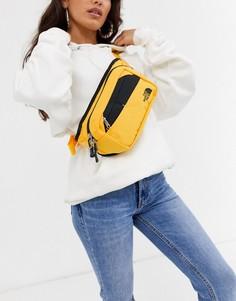 Желтая сумка-кошелек на пояс The North Face-Желтый